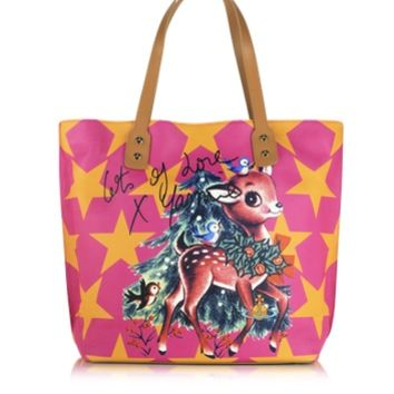 Vivienne Westwood Designer Handbags Printed Leather Tote Bag