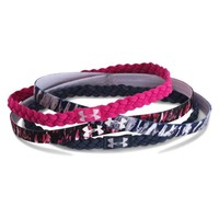 Under Armour Women's UA Graphic Braided Headbands 4-Pack