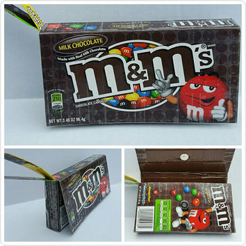 M&M's Candy Box Wristlet - Purse- Pouch- Wallet