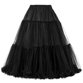 Women Winter Tutu Luxury Retro Skirt Vintage Skirt Crinoline Petticoat Underskirt Rockabilly Petticoat For Wedding Bidal