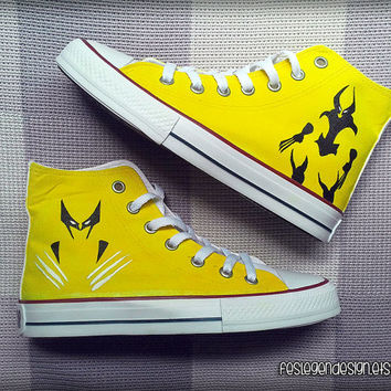 The Wolverine Custom Converse / Painted Shoes