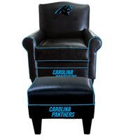 Carolina Panthers Game Time Chair and Ottoman