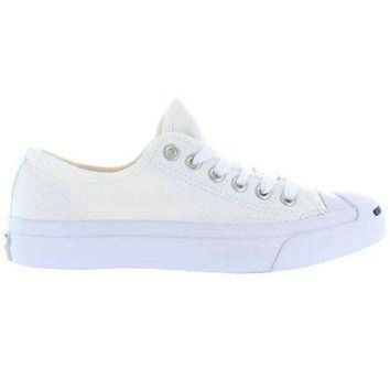 CREYUG7 Converse Jack Purcell Low - White Canvas Low-Top Sneaker