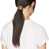 Gold Wide Half Circle 047 Barrette