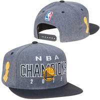 adidas Golden State Warriors Gray/Black 2015 NBA Finals Champions Locker Room Snapback Hat