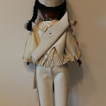 LARGE Vintage Native American Doll clothing Indian doll Vinatge doll toy