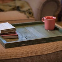 Handmade Oversize Ottoman Tray / Table Top / Great Gift - Made of Reclaimed Wood