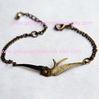 The Hunger Games Inspired Mockingjay Bracelet by GeluguAccessories