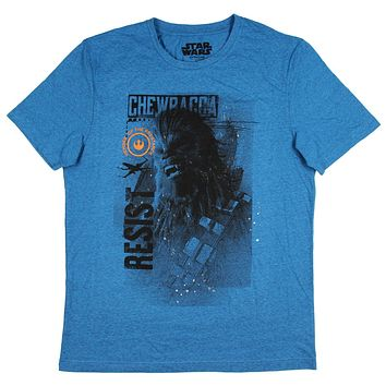 Star Wars Men's Chewbacca Member Of The Resistance Licensed T-Shirt