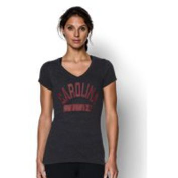 Under Armour Women's South Carolina UA Tri-Blend Short Sleeve V-neck