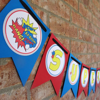 Superhero Birthday - Superhero Banner