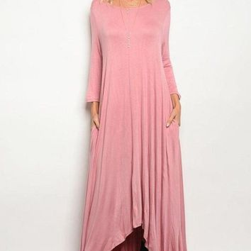 Free Falling Pocket Maxi Dress