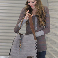 Rebirth Dove Gray Malibu Hobo Bag - HaileyMason, LLC Store
