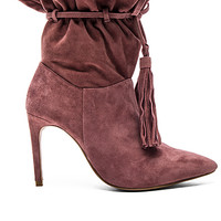 Pergola Booties in Rose Suede