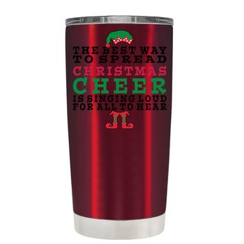 TREK The Best Way to Spread Christmas Cheer on Translucent Red 20 oz Tumbler Cup