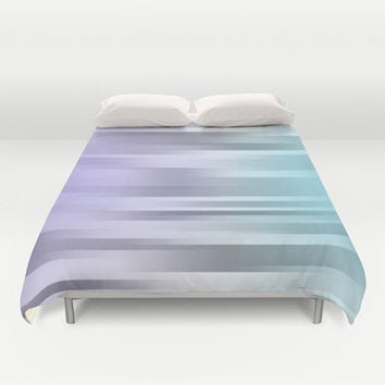 Purple - Gray - Blue Bed Cover - Bed Spread - Duvet Cover - Duvet Cover Only - Bedding - Ombre - Made to Order