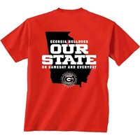 Georgia Bulldogs Our State T-Shirt | UGA Our State T-Shirt | Georgia Bulldogs Game day T-Shirt