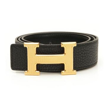 AUTHENTIC HERMES CONSTANCE LEATHER H BELT 80 BLACK 2010 N GRADE A USED-AT
