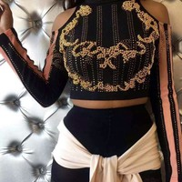 Stassianne Studded Crop Top