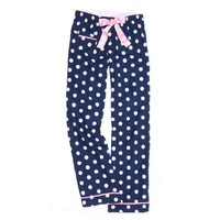 Touch Of Europe Flannel Pants Women's Polka Dot Regular Fit Pants