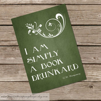 Simply a Book Drunkard Lucy Maud by JaneAndCompanyDesign on Etsy