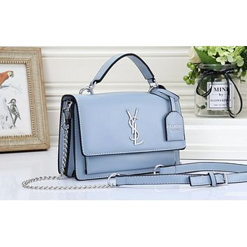 YSL hot seller of solid color clamshell shoulder bag fashionable casual lady shopping bag #3