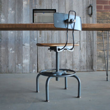 "wood desk with hairpin legs,36"" L x 24"" w x 30"" h,1.65""  top"