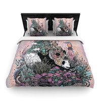 "Mat Miller ""Land of The Sleeping Giant"" Panda Woven Duvet Cover"