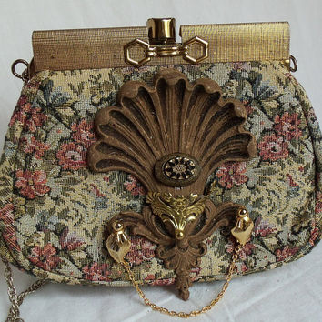 Floral Steampunk Bag Vintage couture purse by HopscotchCouture