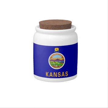 Kansas State Flag Candy Jar