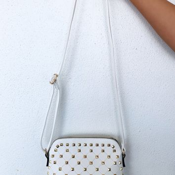 Travel On Purse: White/Gold