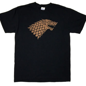 House Stark Direwolf Sigil Game of Thrones Bleached T-shirt