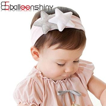 BalleenShiny Baby Girl Headband Star Cute Bandana Scarf Hair Band Ear Bebe Knot Headwear Hair Accessory Infant Toddler HeadWrap
