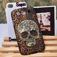 Antique skull phone cover Leopard Frosted phone case for Samsung GALAXY S3 i9300 and Iphone 4G 4GS 5G