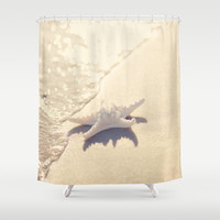 Sunlight Starfish Shower Curtain by Erin Johnson