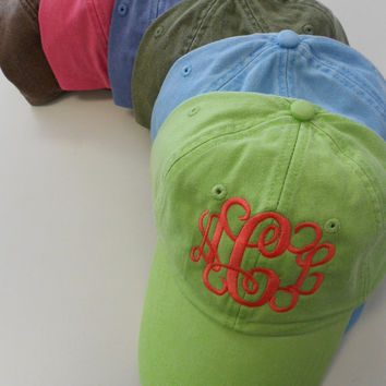 Monogram Baseball Cap Font Shown INTERLOCKING