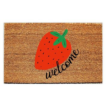 Strawberry Welcome Doormat