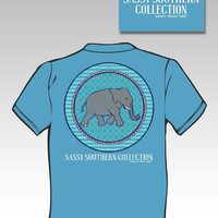 Sassy Frass Funny Southern Ellie Elephant Comfort Colors Sweet Girlie Bright T Shirt