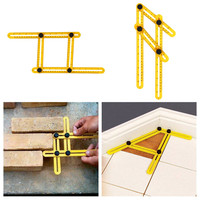 New Measuring Instrument angle-izer template tool four-sided ruler mechanism slides Measures All Angles