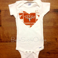 University of Texas Girls Bodysuit