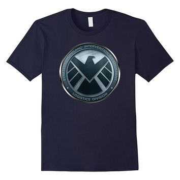 Marvel Agents of S.H.I.E.L.D. Eagle Shimmer Badge T-Shirt