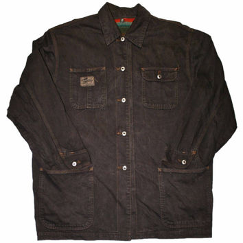 Vintage 90s Brown Gap Chore Jacket Mens Size Medium