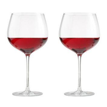 Oneida Aquarius 2-pc. Balloon Red Wine Glass Set (White)