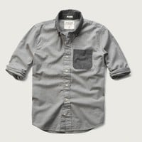 Colorblock Oxford Shirt