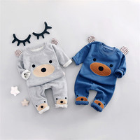 Cotton Spring/Summer Baby Girls Dress Long Sleeve Fashion Girl Dress Bear design Princess Party Clothing Girl dress GD 517-in Clothing Sets from Mother & Kids on Aliexpress.com | Alibaba Group