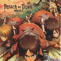 Attack on Titan Cartoon Cast Poster 22x34