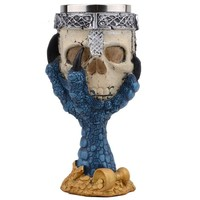 Stainless Steel Goblet Skull Head Skeleton Claw Wine Glass Beer Steins Drinking Glass Whiskey Cup