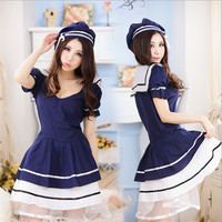 Beauty Student cosplay Seaman uniform set costumes School Girl Halloween Party Costume Cute