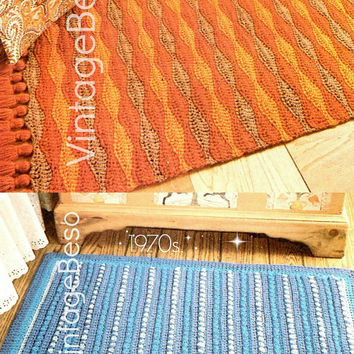 2 EASY RUG CROCHET Patterns Home Crochet Patterns 1970s Rug Crochet Pattern Bohemian Decor Vintage Pdf Patterns - Instant Download