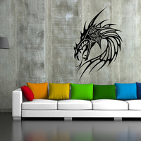 ik46 Wall Decal Sticker Room Decor Wall Art Mural dragon monster horror living room bedroom interior